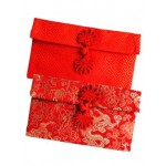 FABRIC RED PACKET (花纹扣-横)