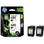 HP 680 TWIN VALUE PACK (BLACK) X4E79AA