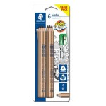 STAEDTLER 119N 2B Jumbo Natural Pencils in Set (6 Pieces)