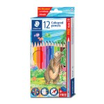 STAEDTLER COLOURED PENCILS - 12 COLOURS