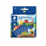 STAEDTLER WAX CRAYONS - 12 COLOURS