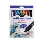 ARTLINE SUPREME FINELINER 0.4MM IN SET OF 30 PIECES