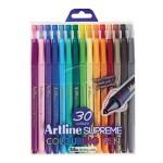 ARTLINE SUPREME COLOUR PEN 0.6MM IN SET OF 30 PIECES