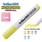 ARTLINE EK-660 PASTEL HIGHLIGHTER 1-4MM PASTEL YELLOW
