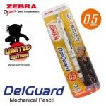 ZEBRA DETECTIVE CONAN DELGUARD MECHANICAL PENCIL 0.5MM WHITE