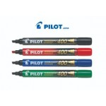 PILOT 400 PERMANENT MARKER CHISEL POINT 4'S SET ASSORTED COLOUR