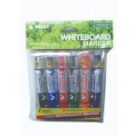 Pilot V Board Master Whiteboard Marker Set of 6 Medium with PVC Pouch