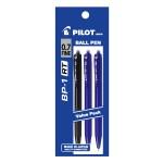PILOT BP-1RT Ball Pen Fine 2 Blue 1 Black (3 Pieces in Pack)