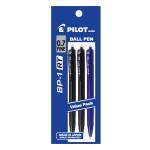PILOT BP-1RT Ball Pen Fine 2 Black 1 Blue (3 Pieces in Pack)