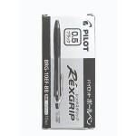 Pilot Rexgrip Ball Pen 0.5mm Black in Box of 10 pieces