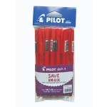 Pilot BP-1 Ball Pen Medium Red Pack of 12 pieces