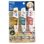 PLUS JAPAN CORRECTION TAPE MR2 3'S ANIMAL PACK 5MM X 6M  WH-645-3P