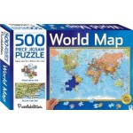 HINKLER JIGSAW PUZZLE WORLD MAP 500PCS