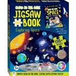 HINKLER 150PCS GLOW IN DARK JIGSAW AND BOOK EXPLORING SPACE