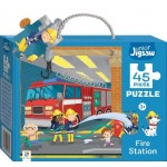 HINKLER CHILDREN JIGSAW PUZZLE FIRE STATION 45PCS