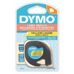 DYMO LETRATAG TAPE - PLASTIC, YELLOW