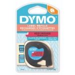 DYMO LETRATAG TAPE - PLASTIC, RED
