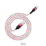 HOCO U85 CHARMING NIGHT MICRO CABLE RED