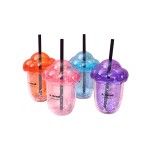 DRINKING CUP WITH STRAW 400ML TR-FAJ0117 (ASSORTED COLOURS)