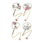 PLATED HOLLOW BOOKMARK- FLORAL TR-BB01090 (ASSORTED DESIGNS)