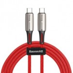 BASEUS CATSD-K09 TYPE-C TO TYPE-C CABLE 60W 3A 2METRE RED