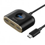 BASEUS CAHUB-BY01 USB3 TO USB3+4USB HUB 17CM BLACK