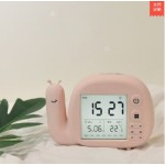 SNAIL ALARM CLOCK WITH LAMP PINK LJA-004