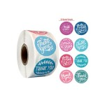 GIFT WRAP STICKER ROLL- THANK YOU