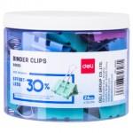 DELI EFFORTLESS BINDER CLIP 41MM 24 PIECES E8552S