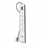 BELKIN 4WAY SURGE PROTECTOR WITH 2 USB PORTS (2 METRE)