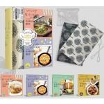 維多利亞的世界料理廚房:蔬蛋x海鮮x肉品x澱粉,為親愛的你,料理120道異國幸福美味(四冊套書+和風日式棉麻餐墊 x 2)