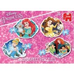 C-DISNEY PRINCESS 4IN1 SHAPED PUZZLES