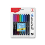 MONAMI Sigmaflo 128 Permanent Marker Fine Point - 8 Colours
