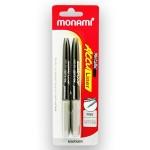 Monami Acculiner Metallic Marker 2s  Silver