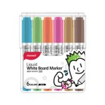 MONAMI SigmaFlo Liquid Board Marker 6 colours SET-B