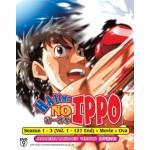 HAJIME NO IPPO 第一神拳 SEASON 1 - 3 (VOL. 1 - 127 END) + MOVIE + OVA  (8DVD)