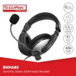 CLIPTEC BMH688 WIRED HEADPHONE GREY