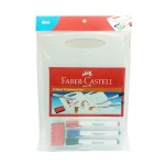 Faber-Castell Double Sided Whiteboard Set + Whiteboard Marker 3 Pieces