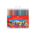 FABER-CASTELL CLASSIC COLOUR PENCILS - 24 LONG SLIM FLEXI CASE