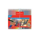 FABER-CASTELL CLASSIC COLOUR PENCILS - 48 LONG SLIM FLEXI CASE