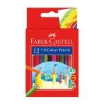 FABER-CASTELL TRI COLOUR PENCILS - 12 SHORT