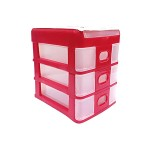 POP BAZIC 3 TIER MINI DESKTOP DRAWER 157*218*218MM MAROON