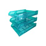 POP BAZIC 3 TIER LETTER TRAY TRANSPARENT
