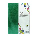 POP ARTZ GLITTER EVA FOAM A4 5 COLOURS 5 PIECES