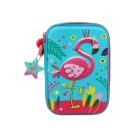MULTI-FUNCTIONAL EVA DAZZLING ZIPPER CASE (BIG)- FLAMINGO 9081-17