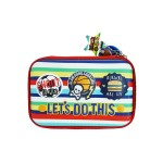 MULTI-FUNCTIONAL EVA DAZZLING ZIPPER CASE (BIG)- PATCHES 9081-26