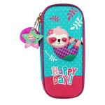 MULTI-FUNCTIONAL EVA DAZZLING ZIPPER CASE (SMALL)- HAPPY DAY SLOTH 9080-10