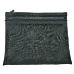 POP BAZIC TWO ZIPPER A5 MESH BAG BLACK