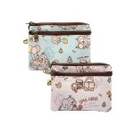 UMAHANA THREE ZIPPERS LARGE COIN POUCH - LAZY DAYS SERIES
