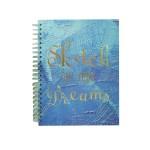 POP ARTZ HARD COVER SKETCH BOOK A4 125 GSM 60 SHEETS PA-HCS60-BLUE